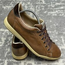 New listing ECCO GOLF SHOES MEN SIZE 45 (US 11) Spikeless Walking Comfort Brown