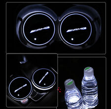 AMG LED Car Cup Holder Pad Mat for Mercedes-benz Auto Interior Atmosphere Lights