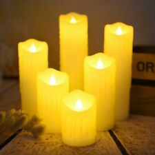 Less Electronic Wedding Candles Decorative Tears Dripping Finish Led Wax Flame