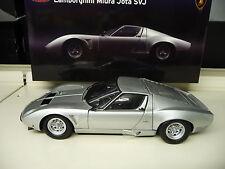 1:18 Kyosho Lamborghini Miura Jota SVJ silber silver NEU NEW