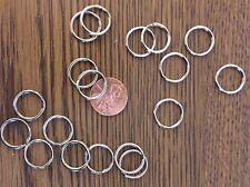 10000 Wholesale Nickel Plated Split rings Pet ID tags