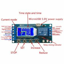 LCD Display Digital Time Delay Relay Module 6-30V Control Timer Switch Micro USB