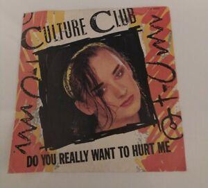 CULTURE CLUB  DO YOU REALLY WANT TO HURT ME  45 GIRI dischi ricordi-NUOVO