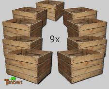 9 x ALTE OBSTKISTE Apfelkiste Vintage HOLZKISTE Deko Weinkiste Holz Regal Shabby