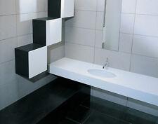 """Lavandino Lavabo Sottopiano Design Moderno """"Diana"""" In Ceramica Bianco 58x41x21,5"""