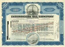 Interocean Oil Company - Stock Certificate