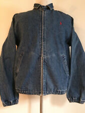 VINTAGE 1980's RALPH LAUREN POLO BLUE DENIM JACKET MEN'S SIZE MEDIUM