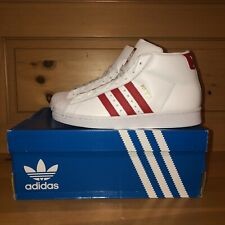 Adidas Men's Originals Pro Model FV4493 White and Red Shoes Size 7.5