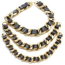 CHANEL Kette Gold Schwarz Damen Accessoire Modeschmuck Necklace Collier Chain