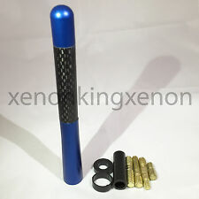 "JDM Style Short Navy-Blue 5"" in/127 mm Carbon Fiber Screw Type Antenna #n4 Car"