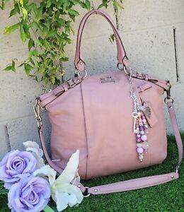 COACH soft Leather madison lindsey satchel purse handbag Lilac PINK MAUVE 18641