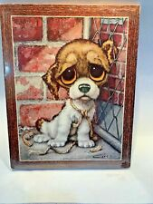 Still sealed mod GIG Pity Puppy Wall Plaque Girard Goodenow Gia Vintage 1960s