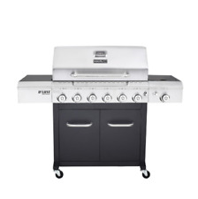 Propane Gas Grill Deluxe Outdoor Cooking Bbq 6 Burner Durable Even Heat System