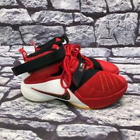 Nike Lebron Soldier IX 9 Red Black White 776471-606 Basketball Shoes Youth Sz 6Y