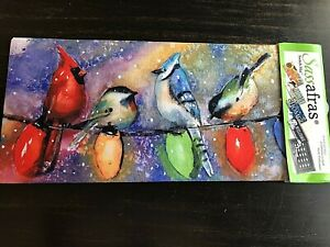 Sassafras Switch Mat Insert Holiday Chirpers Birds on Christmas Lights NEW
