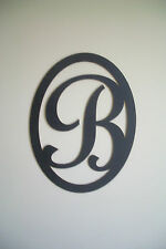 Black Wood Initial (Letter B) Wall Decor Sign