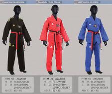 Adidas Taekwondo 3-Stripe Color V-Neck Dobok Uniform/martial arts/Made in Korea