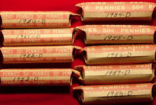 9 Denver Mint Lincoln Wheat Penny Rolls From The 50's (Complete Set Of D's)