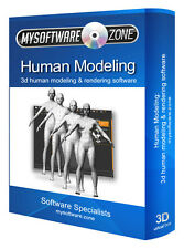 3d umano modellazione e animazione software per PC e Mac