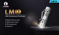 LUMINTOP LM10 10th Anniversary Titanium Flashlight POLISHED OR STONEWASHED! USA!