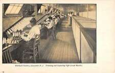 Gloucester New Jersey Welsbach Factory Mantle Inspecting Antique Postcard K32928
