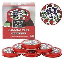 Mason Jar Lids - Decorative Canning Caps Fit Regular Mouth Mason Jars