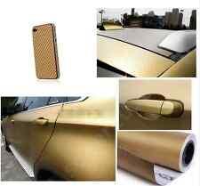 3D Car Accessories/phone Interior Panel gold Carbon Fiber Vinyl Wrap Sticker