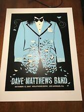 Methane Studios Dave Matthews Band poster Hollywood Bowl 2007 s/n Panic