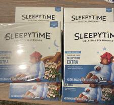 6 Packs of Celestial Seasonings SLEEPYTIME EXTRA Tea 240 Tea Bags EXP 10/21