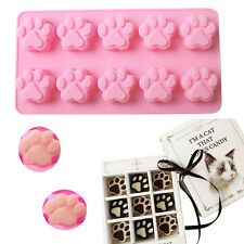 Cat Paw Print Silicone Candy Cookies Chocolate Ice Cube Cake Decorating Mould