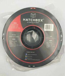 New HATCHBOX ABS 3D Printer Filament, +/- 0.05 mm, 1 kg Spool, 3.00 mm, Red 4E