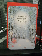 THERE ARE MANY PATHS TO FAMILY CHRISTMAS CARD AMERICAN GREETINGS NEW DAUGHTER