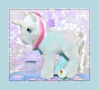 ❤️My Little Pony MLP G1 Vtg So Soft Flocked Unicorn FIFI & Original Sun Comb❤️