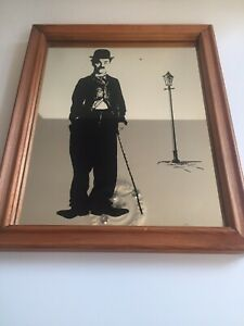 CHARLIE CHAPLIN BAR BREWERY MIRROR VINTAGE ADVERTISING MAN CAVE BEER BREWERIANA