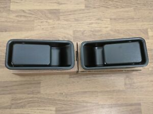 87-06 JEEP WRANGLER TJ YJ 1/2 DOOR HANDLES Exterior OUTSIDE Outer Black PAIR