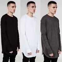 Hipster Mens Thumb Hole Cuffs Long Sleeve T-Shirt Basic Tee Hip Hop Clothes