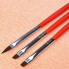 Hot 3pcs Nail Art Drawing Painting Set Tool Brushes Design UV Gel Brush Pen