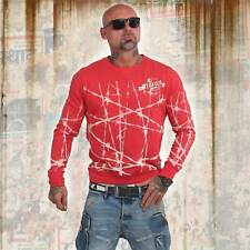 Nuevos señores yakuza barbwire suéter Sweater-ribbon red