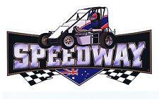 Speedway Speedcar/Midget Aus - Retro Sticker