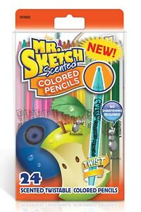 Mr  Sketch Scented Twist Assorted Colored Pencils 24 Pack  1970620  New