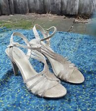 Minelli Gold Glitter Heels Sz 40 (French Label)