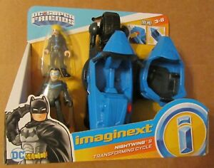 IMAGINEXT DC Super Friends NIGHTWING & TRANSFORMING CYCLE ~ Fisher-Price ~ NIP