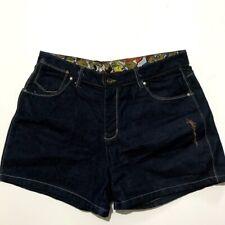 Platinum Fubu Blue Jean Denim Shorts Size 34 Embroidered Graphic Fat Albert