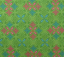 Lattice Geometric Quilt Cotton Fabric Pear Green Pink Blue Hobby Lobby BTY