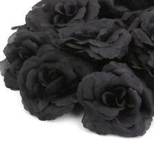 20 stk Rosen Schwarz Kunstblumen Seidenblumen Künstliche Blumenstrauß Hochzeit
