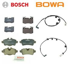 Fits Mini Cooper 2009-2010 Brake Pad KIT Front & Rear Pads and Sensors BOSCH