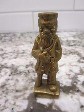 Vintage Nanco Brass Standing Old Fisherman Sailor Statue Figure-wooden leg/pipe