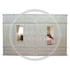 HANDMADE DEWSBURY 6 DOOR 8 DRAWER WARDROBE WITH TOPBOX IN WHITE (ASSEMBLED