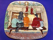 1978 Beswick Royal Doulton England Christmas Around The World Plate #7 America