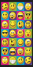 "Smiley Faces Emoji Towel Happy Fun Kids Beach Pool Souvenir 30""x60"""